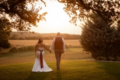 Boerne wedding sunset couple portrait