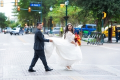 Downtown San Antonio Wedding Portraits_in street