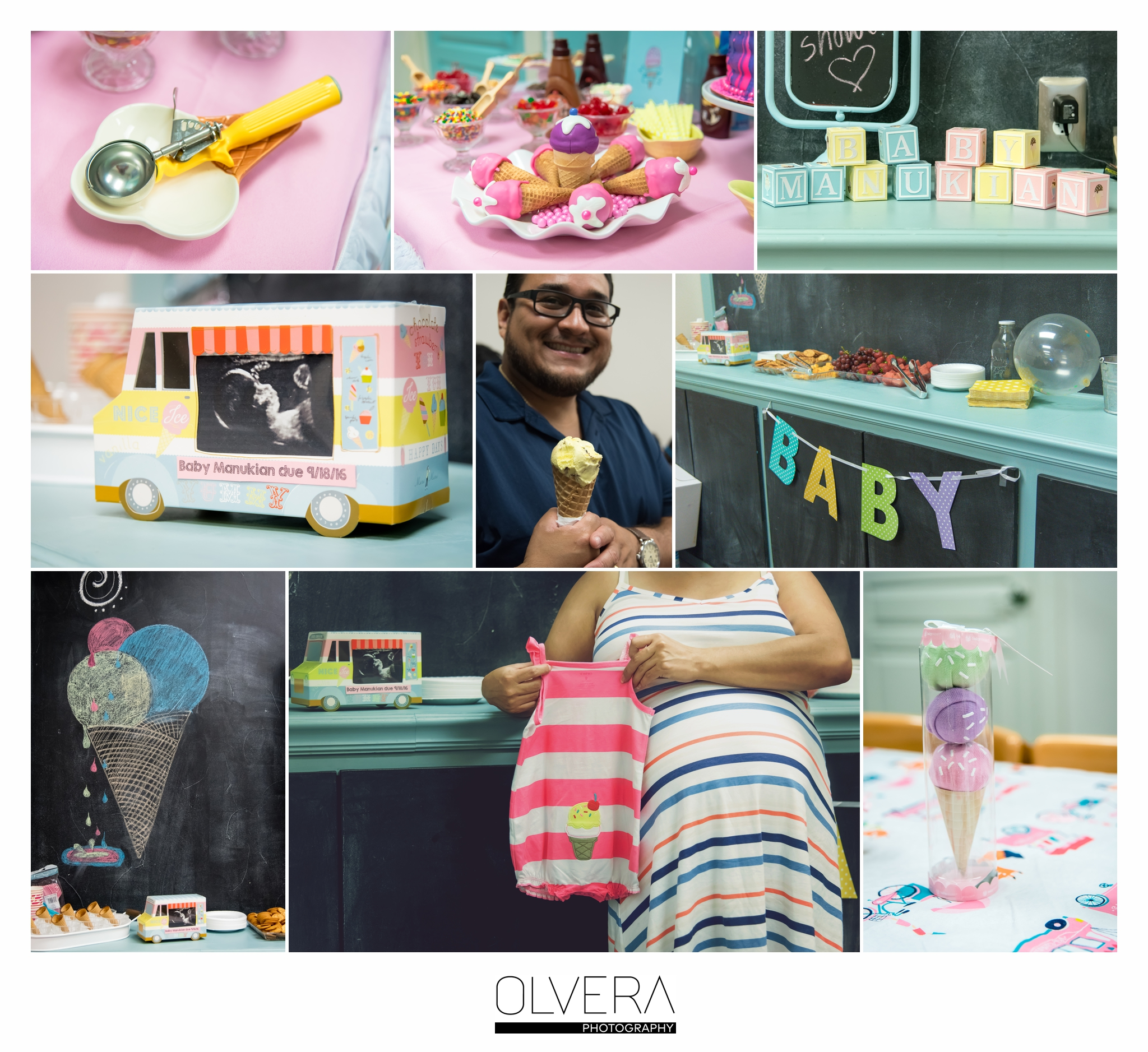 Marie S Ice Cream Shop Baby Shower Olvera Photography