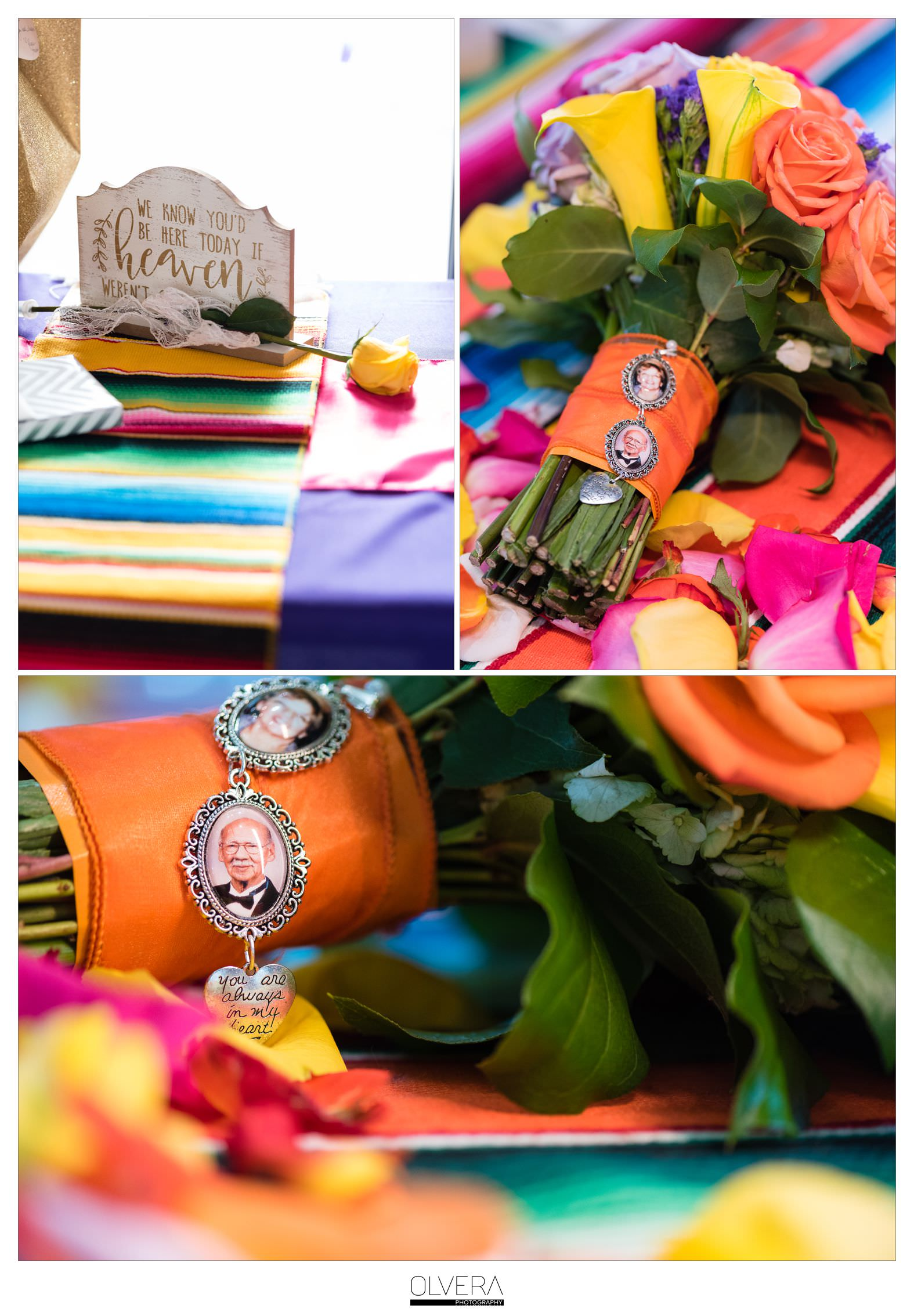 Colorful Fiesta Inspired Wedding Bouquet| Memory Charm|San Antonio Wedding Photographer