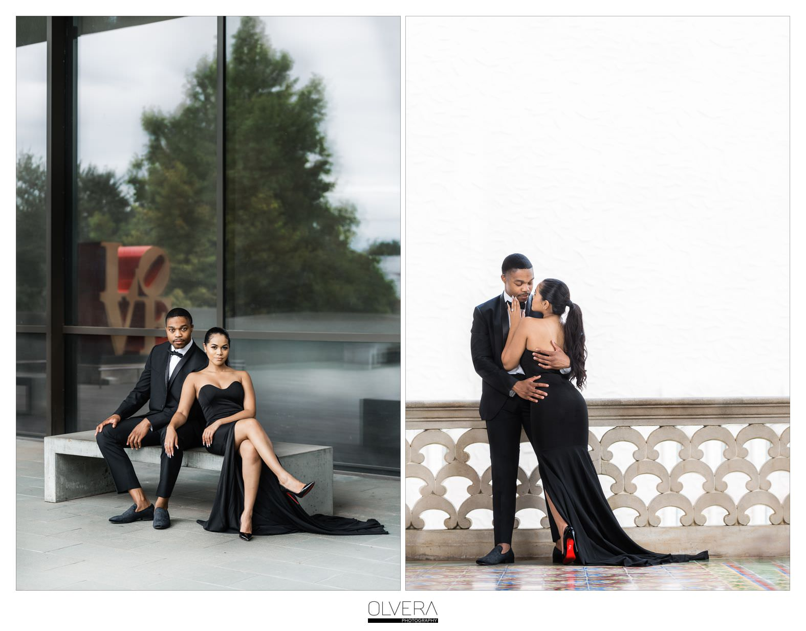 Glam Engagement Portraits at McNay Museum_San Antonio,TX 2