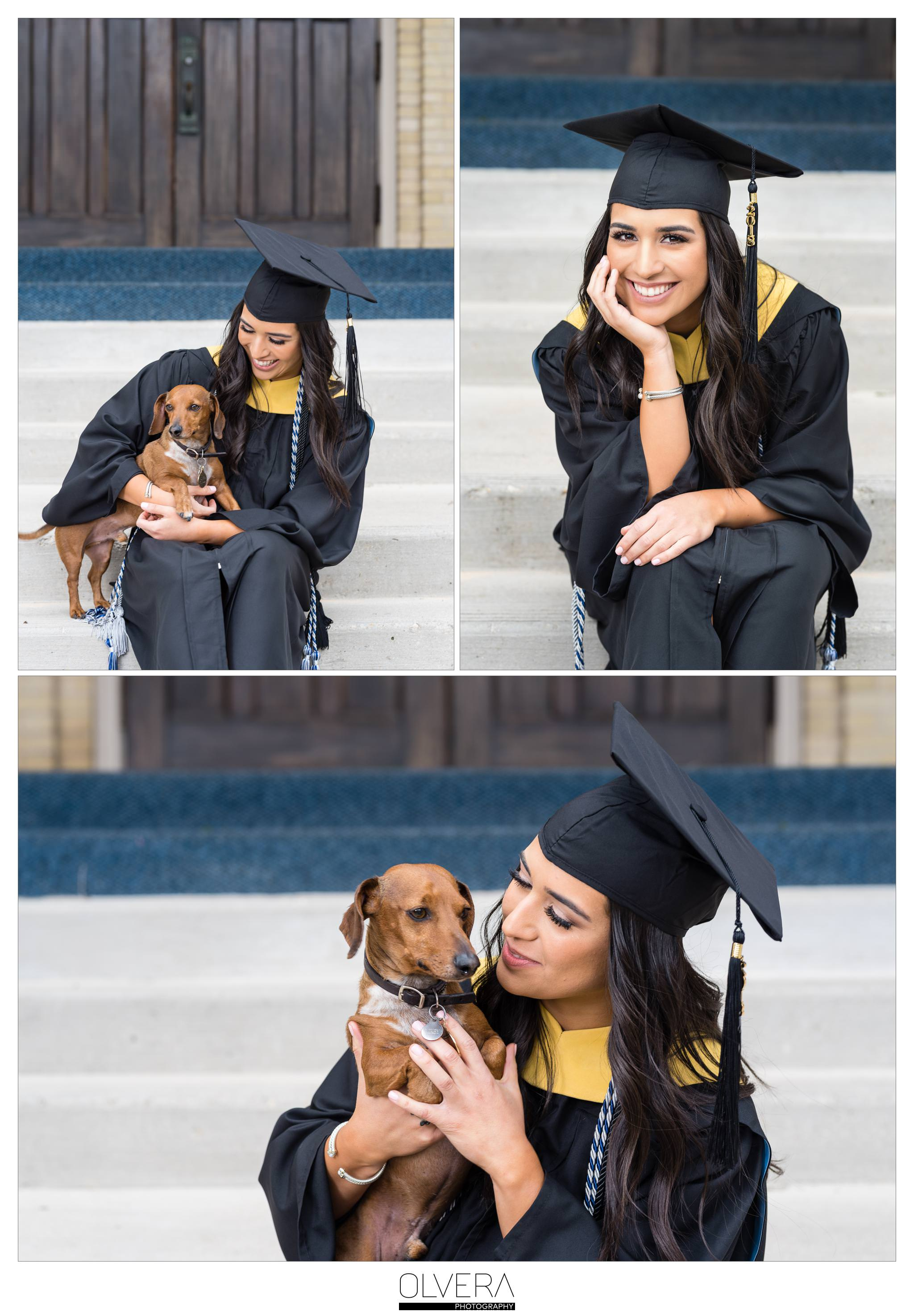 Our Lady of the Lake University_Senior Portraits with dog_San Antonio-tx