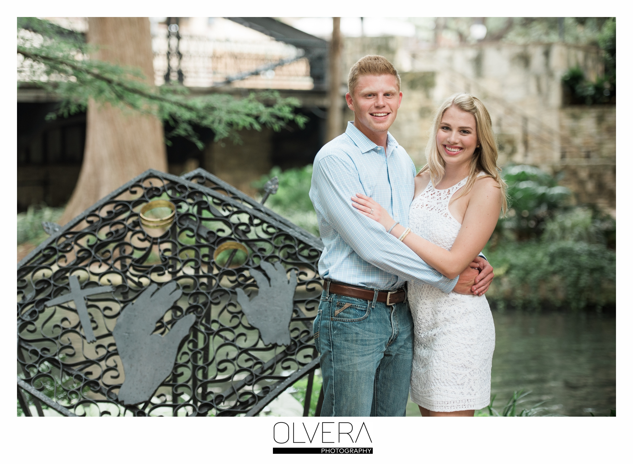 Riverwalk Proposal on Marriage Island, San Antonio, TX.