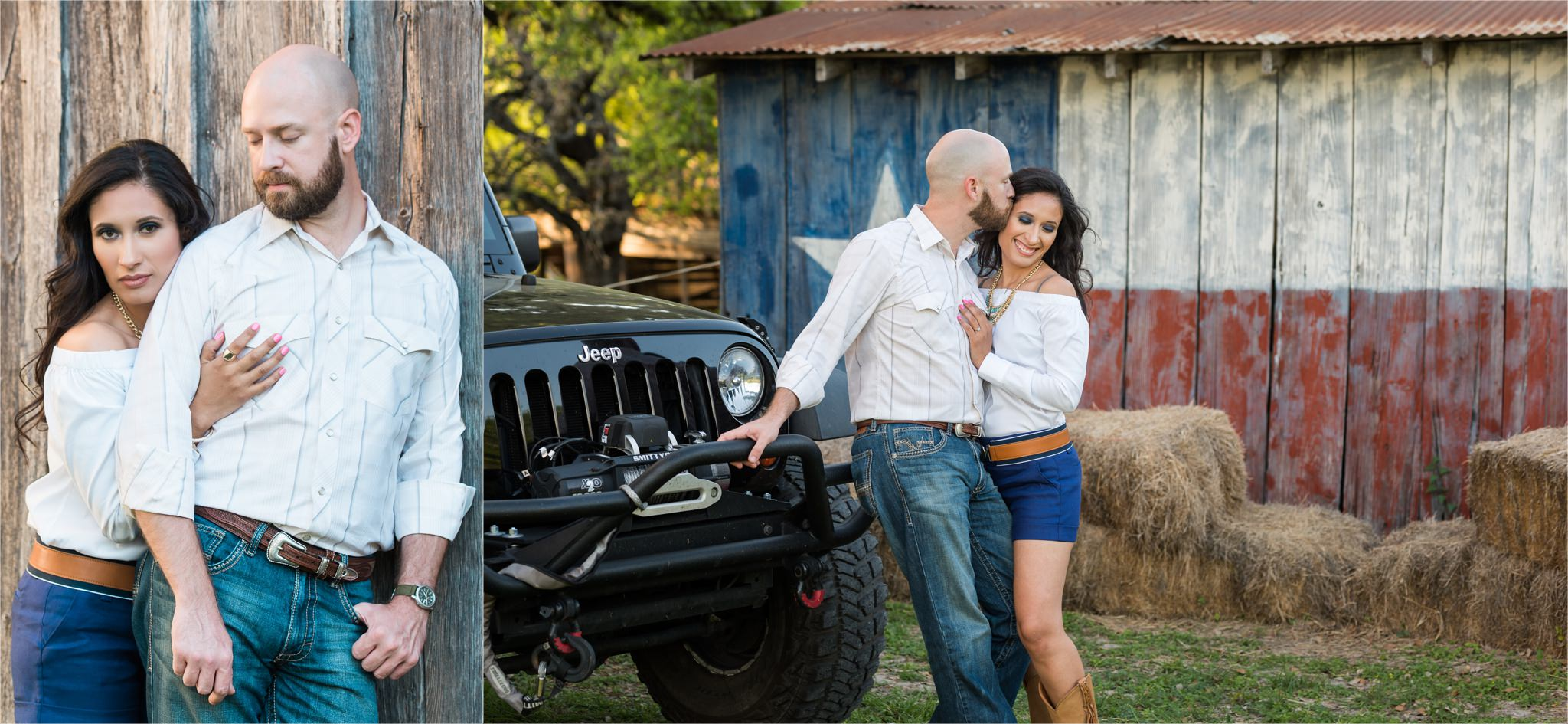 A Rustic Texas Barn Engagement Session | San Antonio, TX.